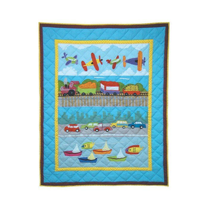 Junior Travel Boy quilt planes, cars, etc. | Baby quilts ...