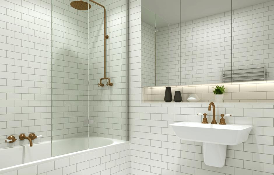 bath shower screen - Google Search … | new bathroom | Pinte…