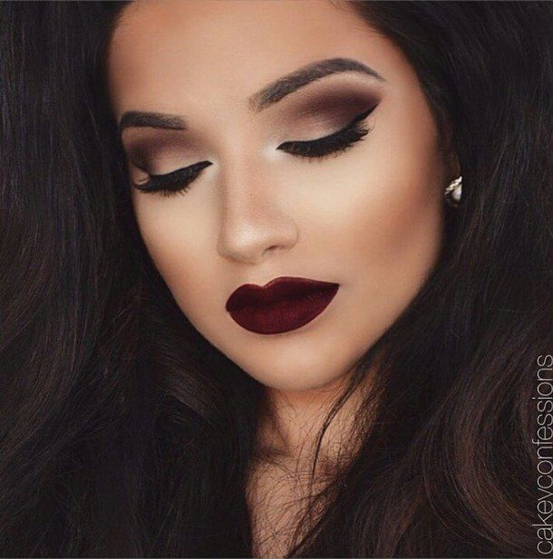 Love This Smokey Eye Burgundy Lip Google Search Homecoming Makeup Makeup Fall Makeup