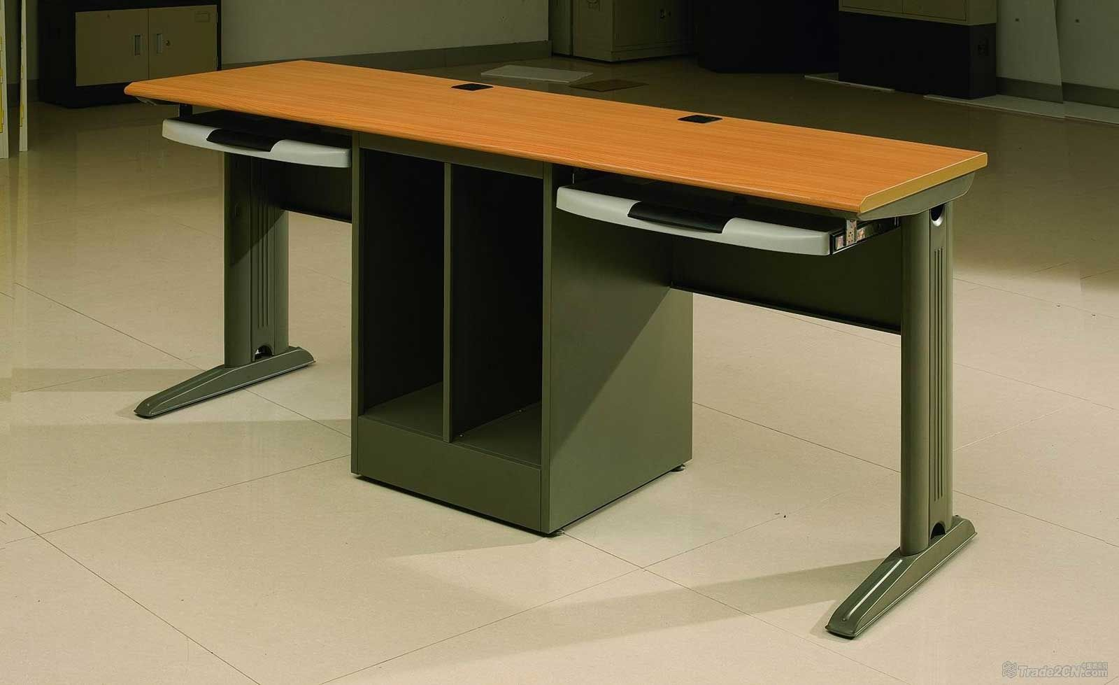 double computer desks for home future projects office computer rh pinterest ie double computer desk with hutch double desktop computer
