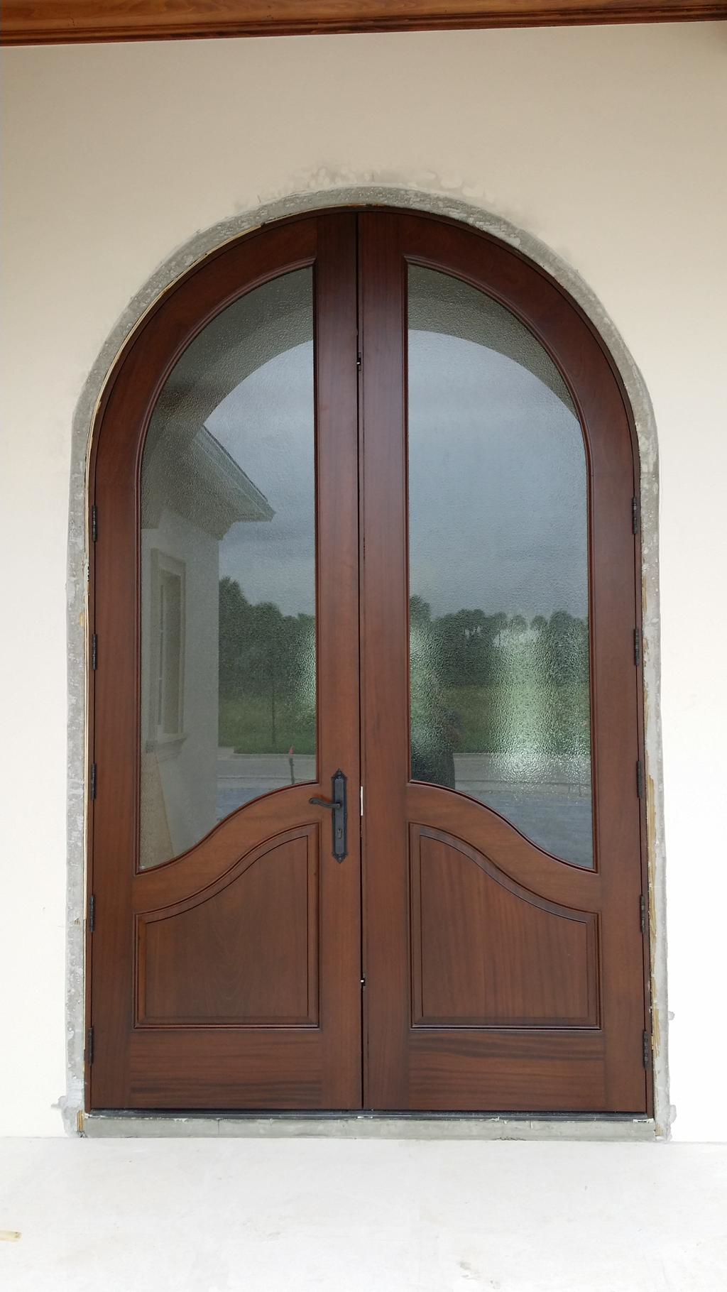 The 1st Of Three 10 Tall Radius Impact Entry Doors To Be Installed