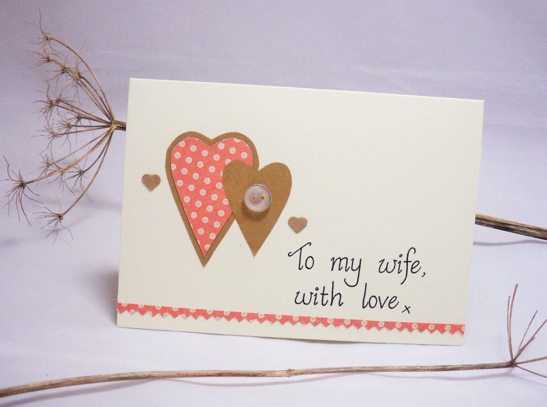 Wife Card Romantic Card Custom Card Anniversary Card To My Wife