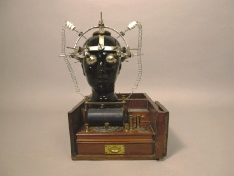 electric helmet by Energo of Turin, Italy; Faradic Battery by S ...