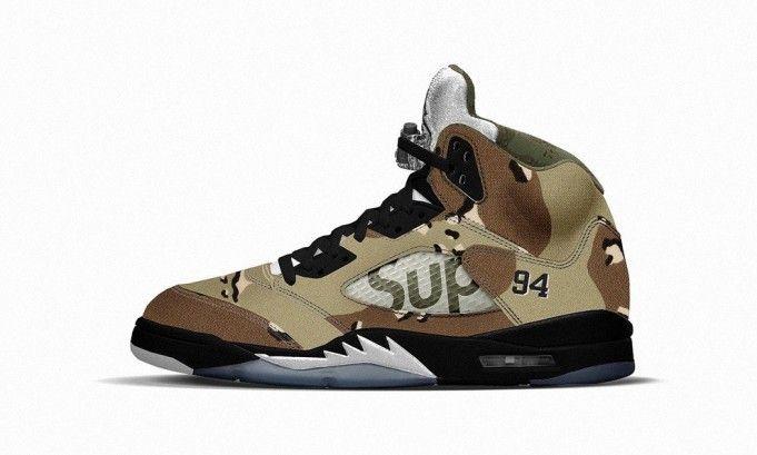 Supreme Air Jordan 5 Camo | Sweet Kicks | Air jordans, Nike