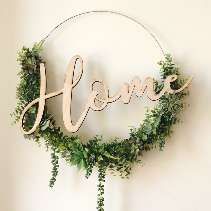 19 Succulent Wreath, Modern Hoop Wreath With Faux Succulents , Modern Style Wreath, Farmhouse Style