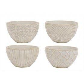 Creative Co-Op Stoneware Dinner Bowls- Cream (DA4224A)