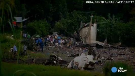 Russian cargo-plane crashes in South Sudan; at least 25 dead