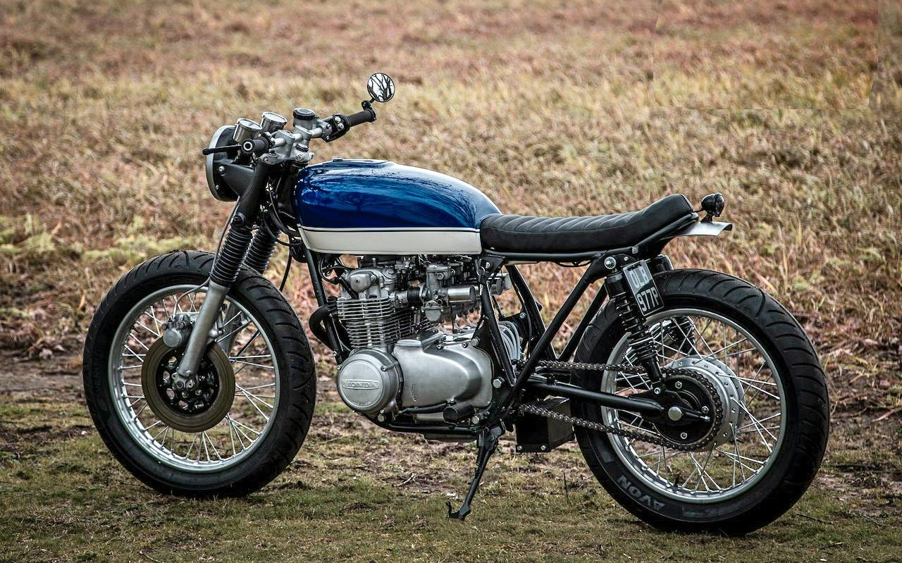 Garage Project Motorcycles Cb550 Cafe Racer Blue Motorcycle Vintage Cafe Racer [ 799 x 1280 Pixel ]