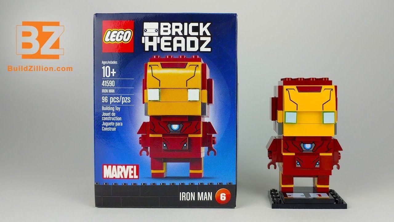 Iron Man - LEGO Brickheadz 41590 - Lego Speed Build #IronMan