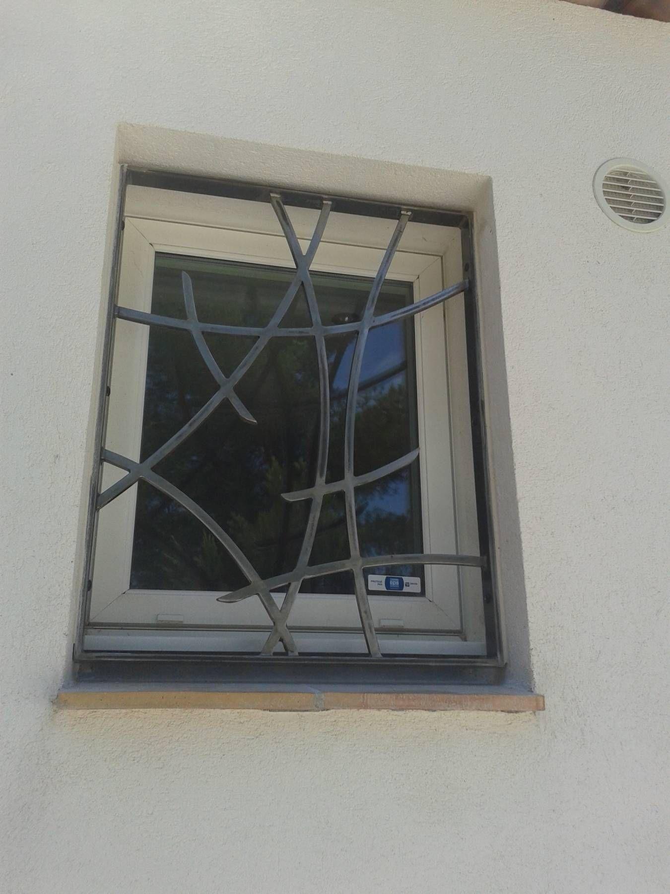 Souvent Création porte grille en fer forgé sur mesure. Modèle Eva  SU81