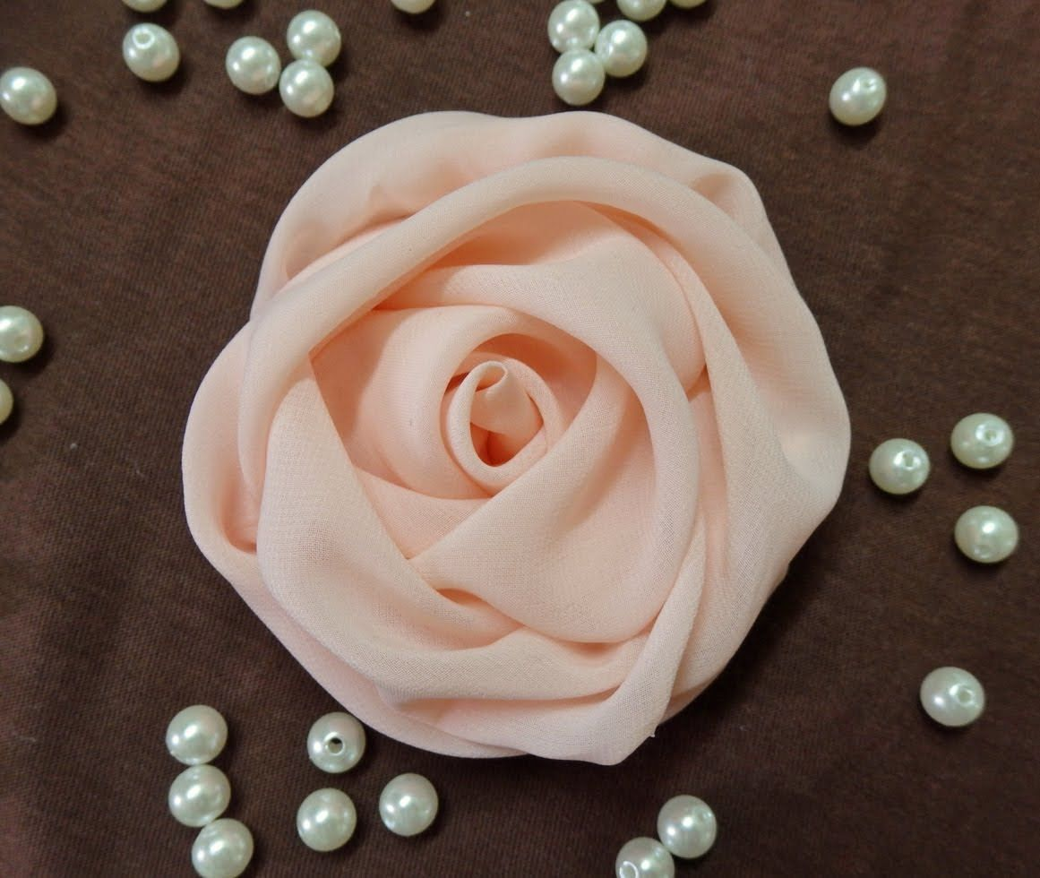 Diy Chiffon Rose,fabric Rose Tutorial,how To Make