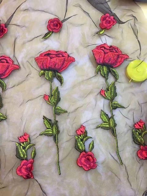 405e2cc5e35 Чистая пряжа трехмерной вышивки цветок кружева