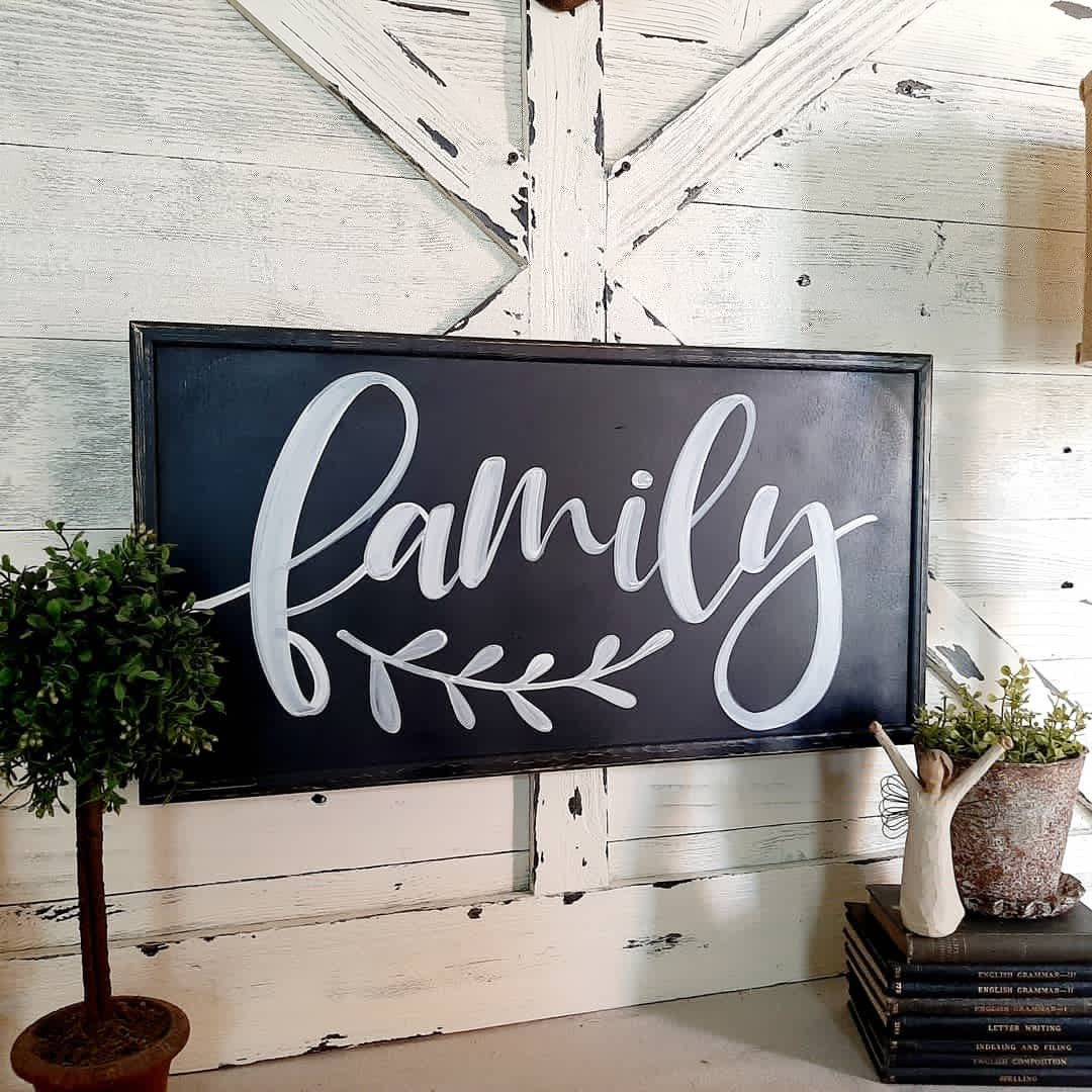 Family Wood Sign Signs 3 Sizes Living Room Signs Wood Etsy In 2020 Family Wood Signs Nursery Signs Room Signs #rustic #signs #for #living #room