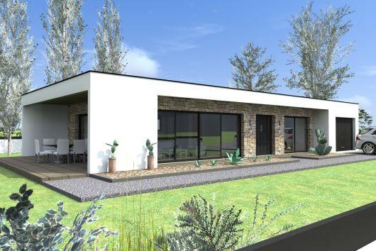 Constructeur maison contemporaine plain pied Modèle Station Maisons