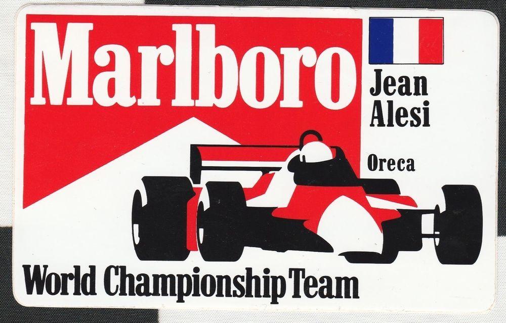 Original Marlboro Jean Alesi Oreca F3000 Team 1988 Period