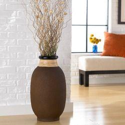 Polivaz Ubud Rice Husk Round Floor Vase Wayfair Floor Vase