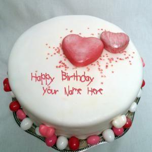Awe Inspiring Ice Cream Birthday Cake With Name Beautiful Birthday Cakes Cake Funny Birthday Cards Online Inifodamsfinfo