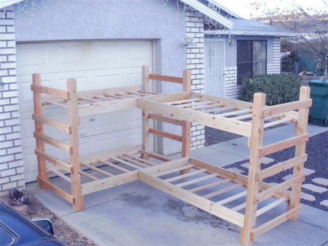Twin Quad Bunk Bed Four Twin Beds In An L Shape Design