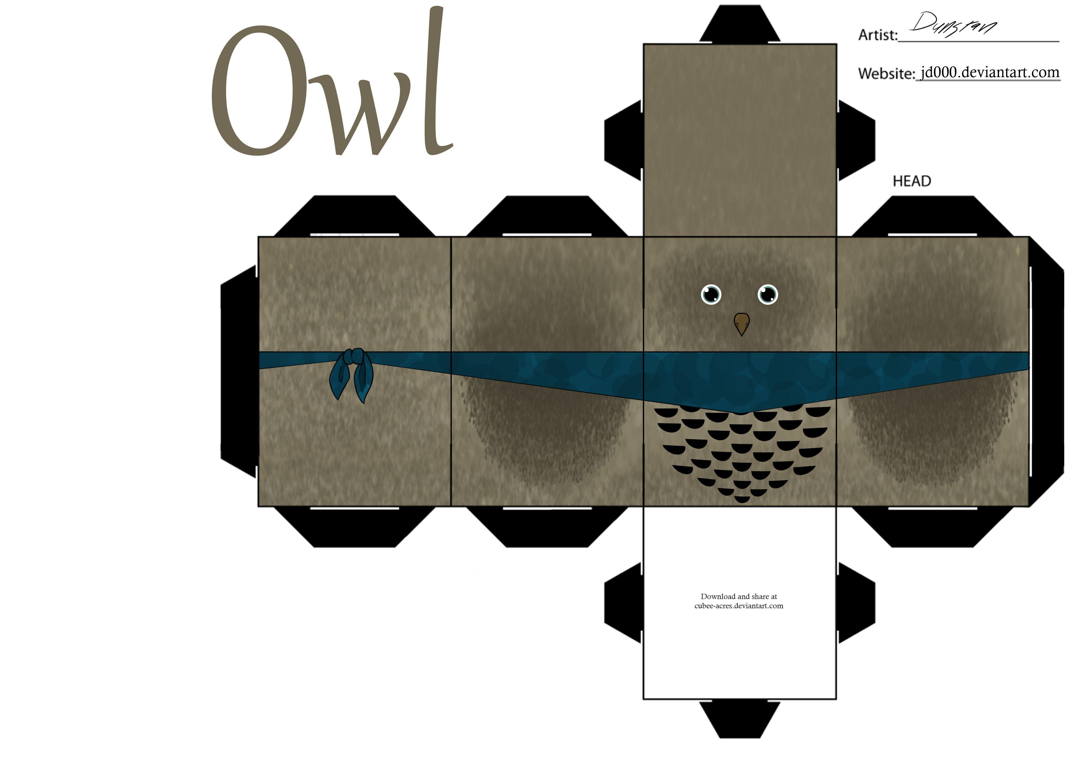party favor owl box template caixas pinterest owl box box