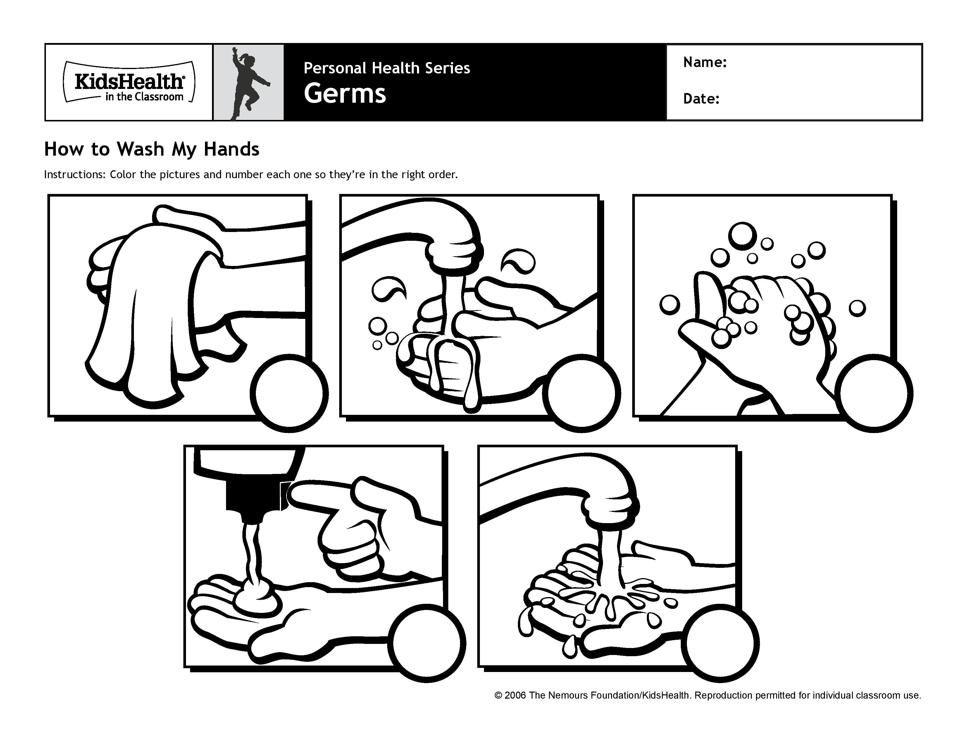 Washing Hands Coloring Page Hand Pages For Kids | Hand washing ... | 2550x3300