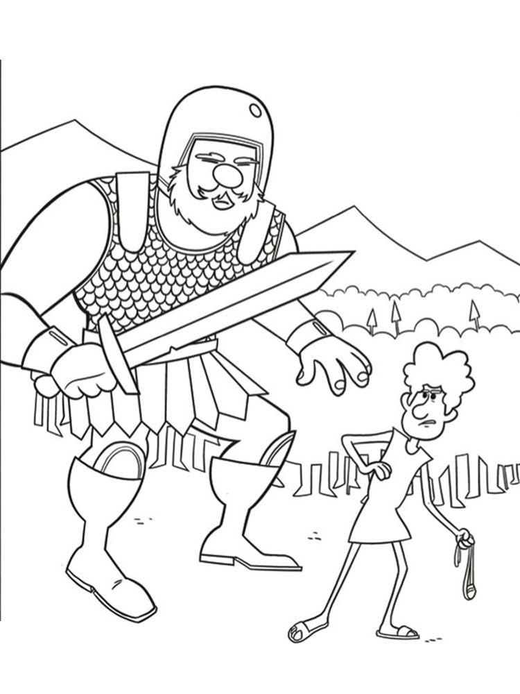 David And Goliath Coloring Page You Must Have Heard About The Story Of David And Goliath How Can A Small Iron Clad David And Goliath Coloring Pages Goliath