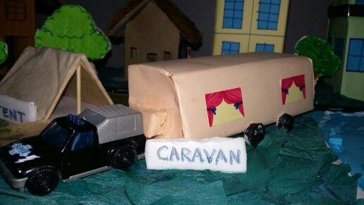 Model of caravan -- for school project | Art-kids creations
