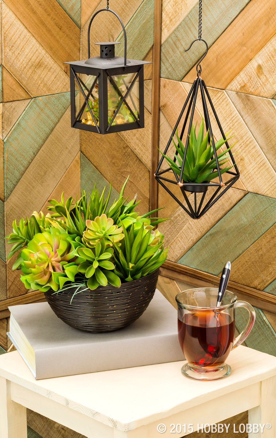 Hobby lobby garden decor  Obtain sophisticated style with faux succulents and chic terrariums