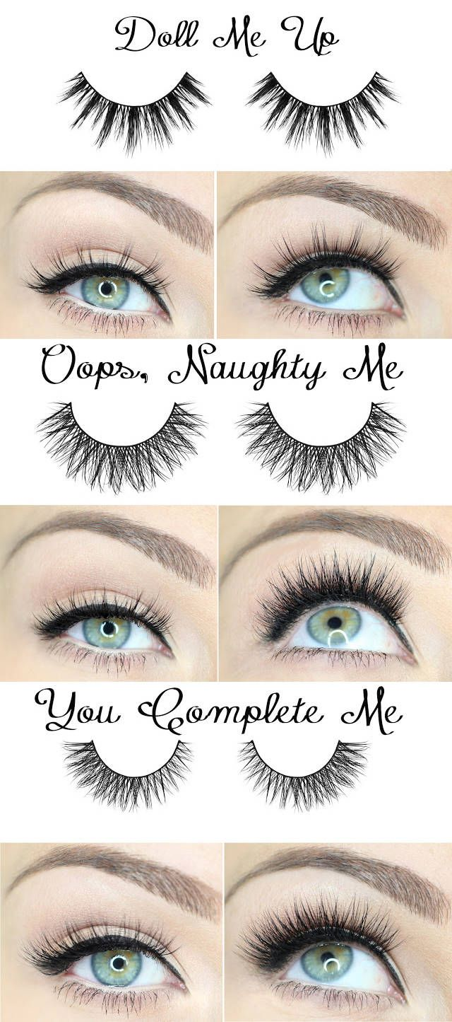 7c5f017651b Different effects for various false eyelashes... | Make Up Tutorial ...