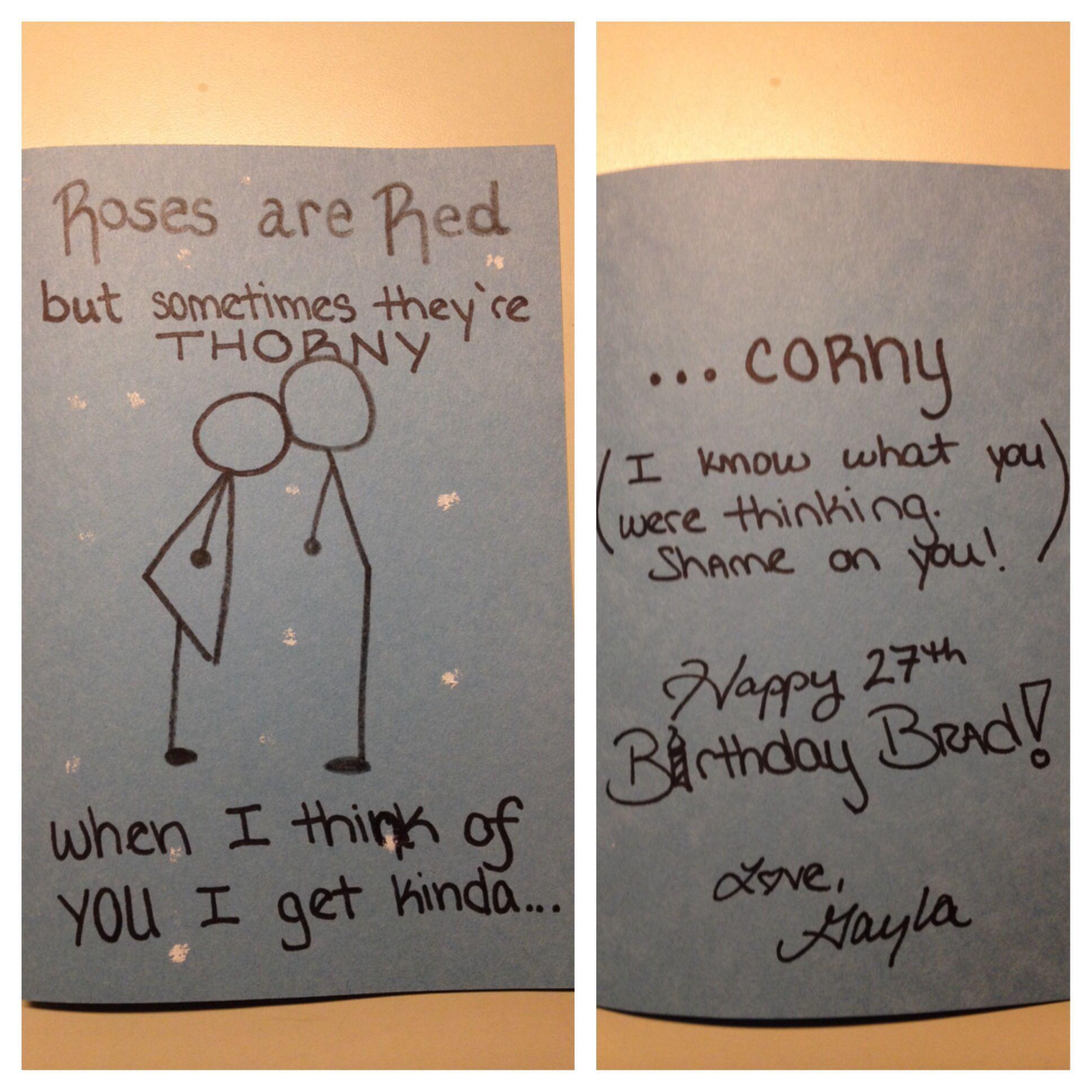 Creations By Gayla Funny Birthday Card For Boyfriend Girlfriend