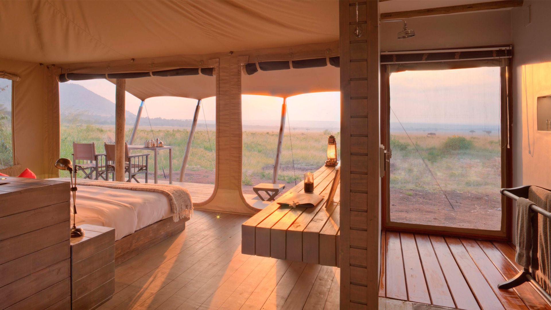 Superior Tent With View Of The Masai Mara At Andbeyond Kichwa Tembo