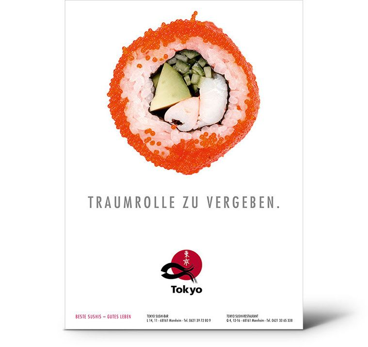 Gastronomiewerbung Speer Rogal Werbeagentur Gastronomie Gut Leben Sushi