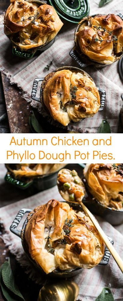 Autumn Chicken And Phyllo Dough Pot Pies Hbh Phyllo Dough Phyllo Pot Pie