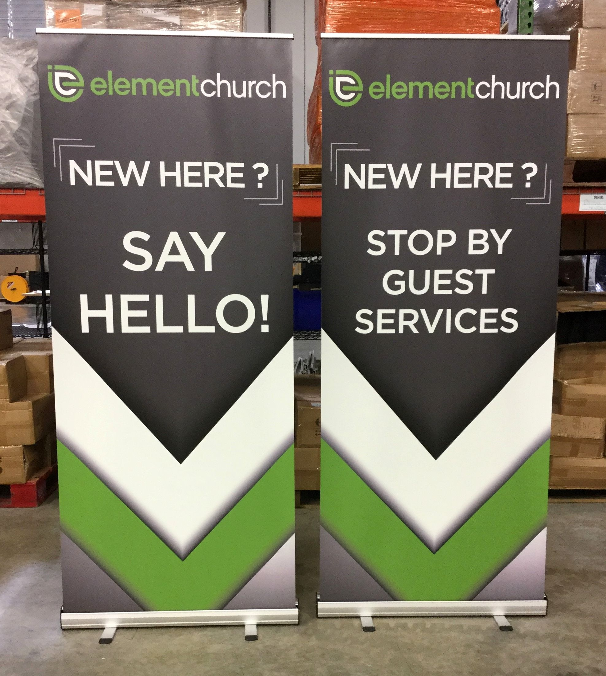Vinyl Retractable Banner Stand Church Welcome Center Banner Stands Church Display