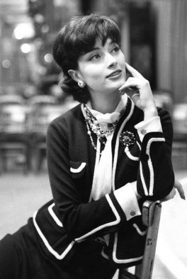Marie Helene Arnaud wearing Chanel 1958