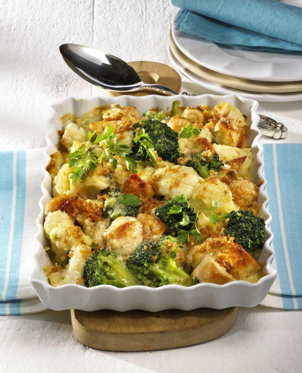 Photo of Blumenkohl-Broccoli-Auflauf mit Hähnchen