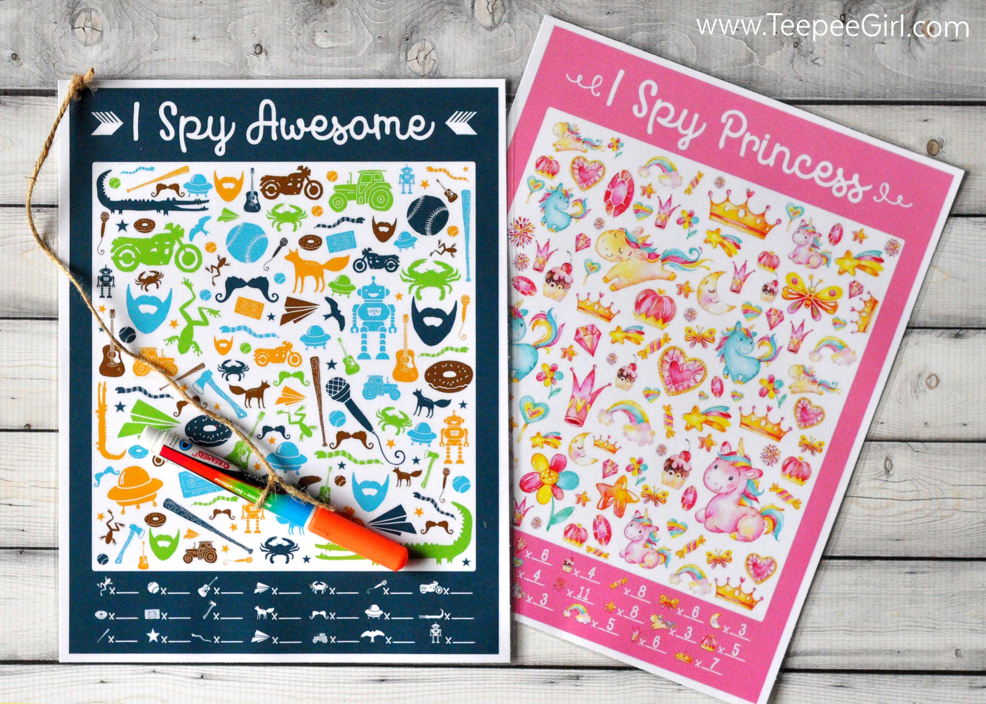 Free Printable I Spy Games