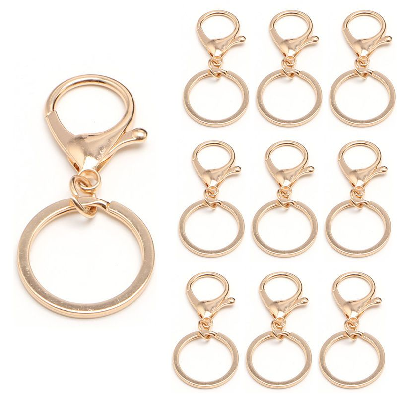 10pc Pants Lobster Clasps Buckle Keychain Clip Hanging Loops Keyring Key Ring #Unbranded