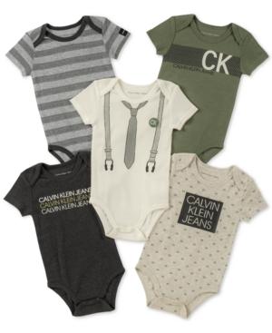 31d0bf68cd51 Calvin Klein Baby Boys 5-Pk. Bodysuits - Assorted 0-3 months ...