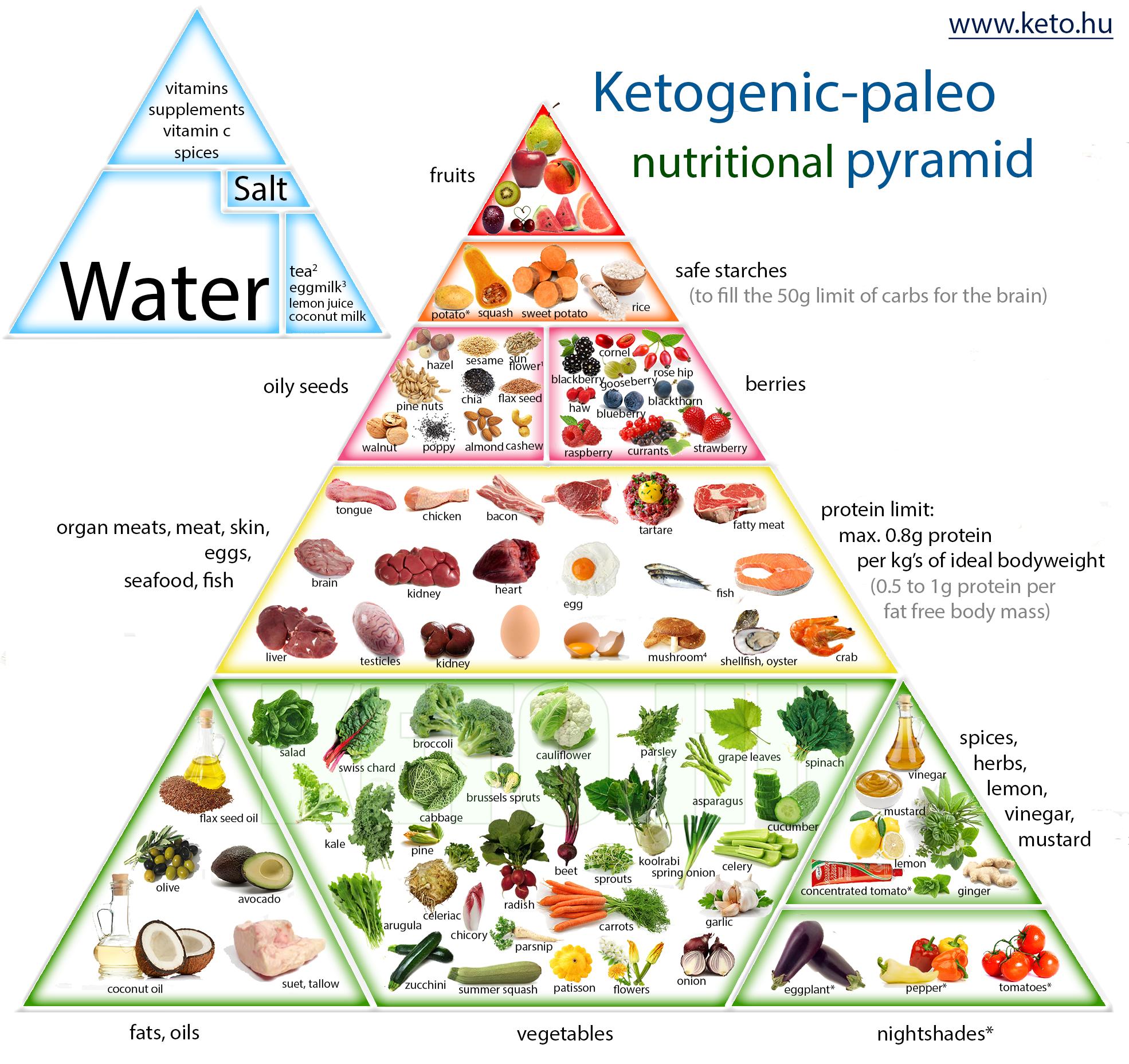 Ketogenic Paleo Nutrition Pyramid Ketogen Paleo Receptek Keto Food Pyramid Paleo Nutrition Food Pyramid
