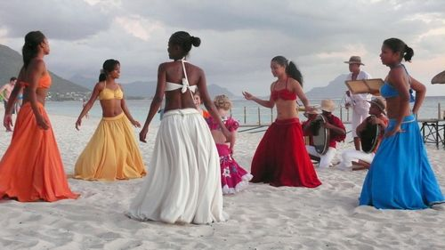 Mauritius Women Performing Their Traditional Sega Dance Beautiful Movement Pinterest