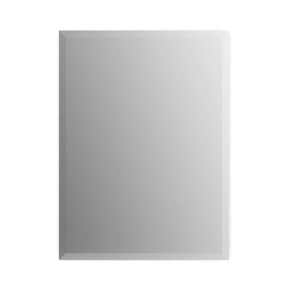Delta Wall Mount 16 In X 24 In Small S1 Rectangular Frameless Truclarity Deluxe Glass Bathroom Mirror With Easy Glass Mirror Glass Bathroom Custom Mirrors