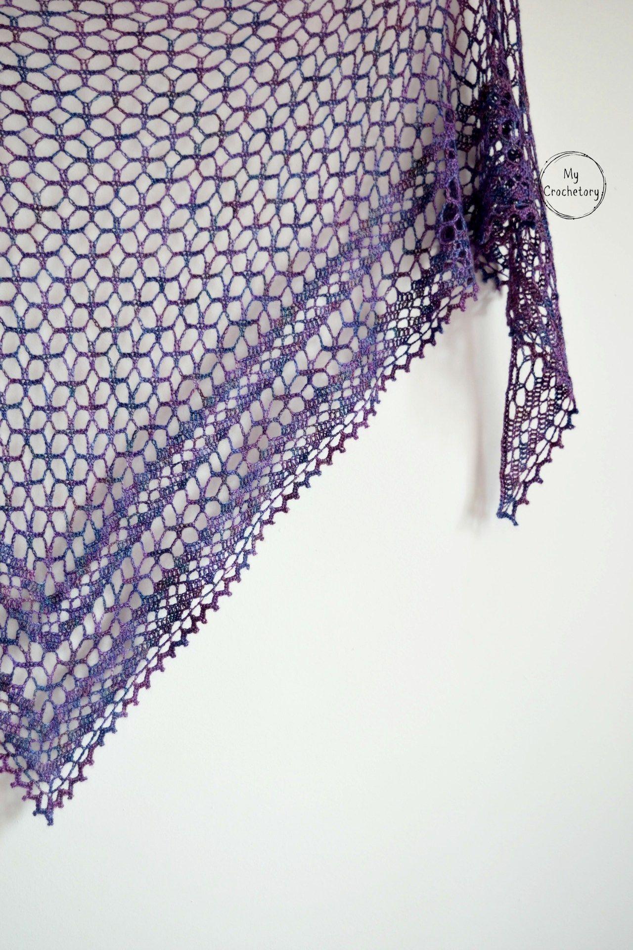 Crochet Nightfall Shawl - free crochet pattern by | Chal,shawl ...