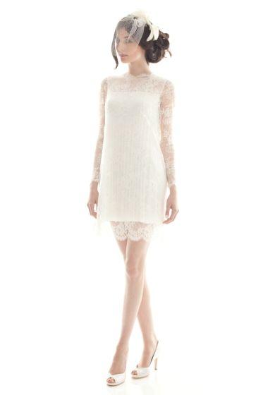 Camilla Giometti short lace gown.