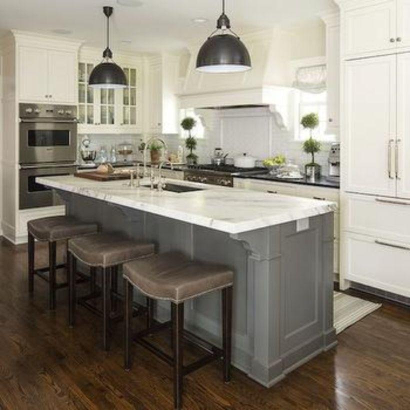 65 Functional Kitchen Island Ideas With Sink Kitchens Pinterest
