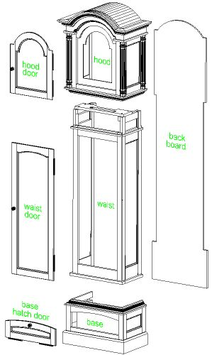 Grandfather Clock Case Main Components Timely Places Spaces In