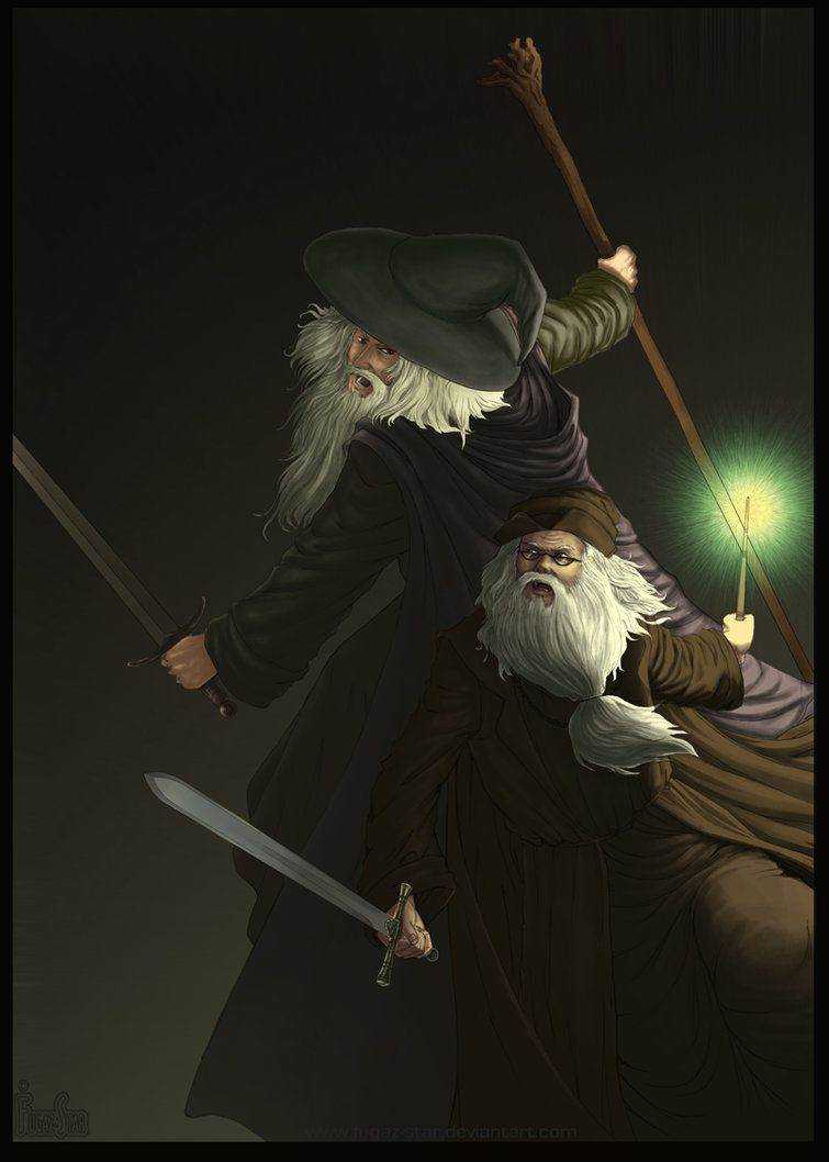 Gandalf Vs Dumbledore o.O by Fugaz-Star on DeviantArt