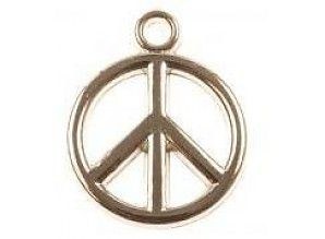 10 pieces Peace Charm Metallook 15mm 1,-