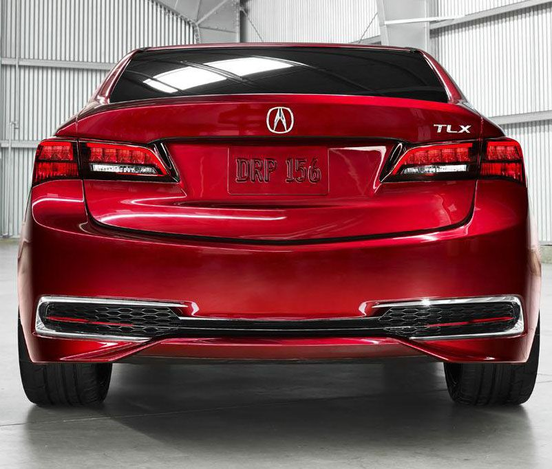 2015 Acura TLX In Red Back Bumper