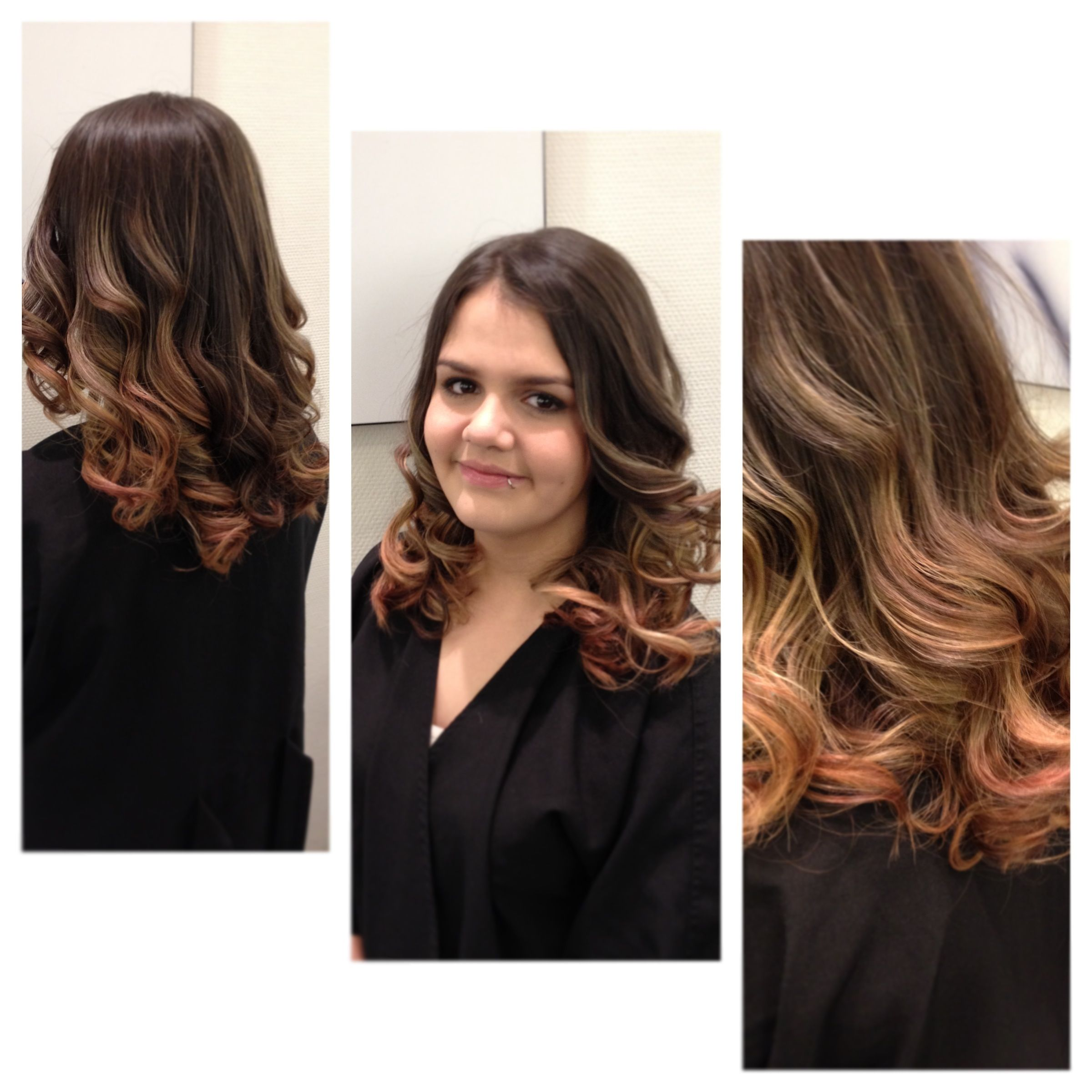 Red and blonde ombré by Carver Johnson. I did this at Hennessey Salon and Spa in West Vancouver. Client had pre-existing red color, so we worked it into the ombré