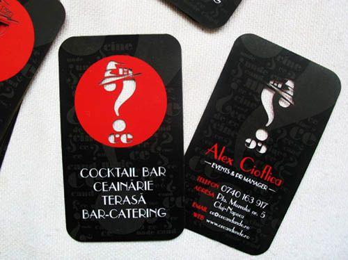 Cocktail Bar Business Card